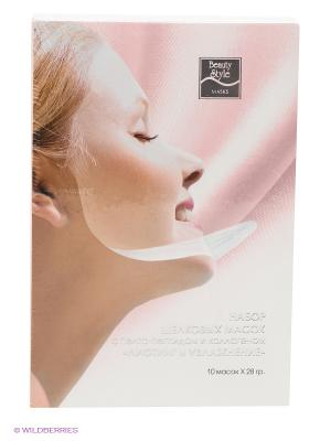 Шелковая маска для лица Beauty Style с коллагеном. Цвет: розовый