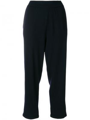 Широкие укороченные брюки Labo Art. Цвет: синий