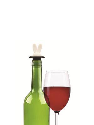 Пробка для вина RABBIT  Kikkerland. Цвет: черный, белый