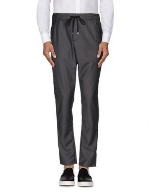 Повседневные брюки TAKESHY KUROSAWA. Цвет: свинцово-серый