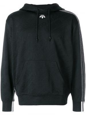 Жаккардовая толстовка с капюшоном Adidas Originals By Alexander Wang. Цвет: чёрный