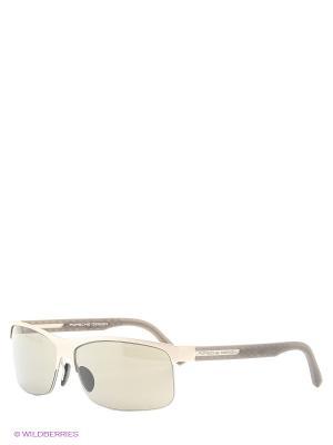Солнцезащитные очки Porsche Design. Цвет: серебристый
