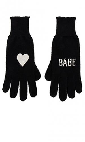 Перчатки без пальцев babe 360CASHMERE. Цвет: черный