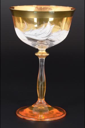 Набор креманок Bohemia. Цвет: прозрачный, золотой