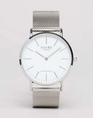 Reclaimed Vintage Серебристые классические часы с сетчатым браслетом I. Цвет: золотой