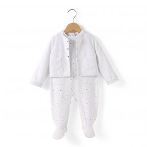 Комплект из 2 предметов: пижама и куртка 0-9 мес R édition. Цвет: набивной рисунок