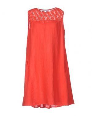 Короткое платье LA FABBRICA DEL LINO. Цвет: красный