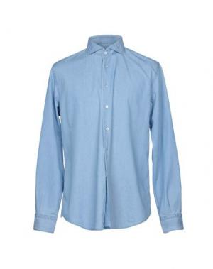 Джинсовая рубашка DEL SIENA. Цвет: синий