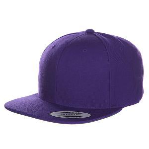 Бейсболка  Classic Snapback Purple Yupoong. Цвет: фиолетовый