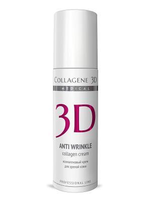 Крем-эксперт ПРОФ Anti Wrinkle 150 мл Medical Collagene 3D. Цвет: белый, бордовый