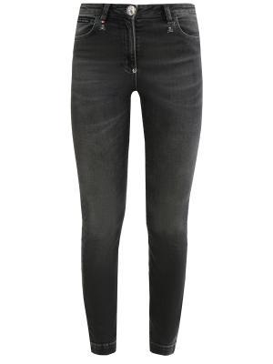 Зауженные джинсы Philipp Plein. Цвет: серый