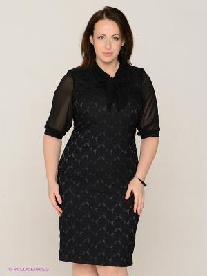 Платье MAFUERTA. Цвет: темно-синий, черный