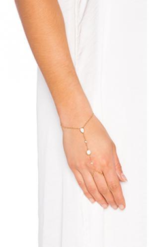 Браслет opal finger Jacquie Aiche. Цвет: металлический золотой