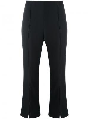 Укороченные расклешенные брюки Glossy By Malene Birger. Цвет: чёрный