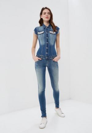 Комбинезон джинсовый Met. Цвет: синий