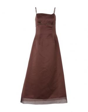 Длинное платье COOL by PETRA SCHMOLZ. Цвет: темно-коричневый