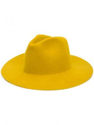 Фетровая шляпа Norma Reinhard Plank. Цвет: жёлтый и оранжевый