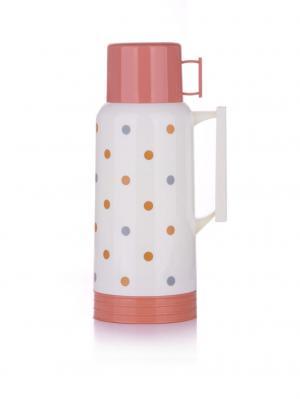 Термос 0.5л, пластиковый со стек. колбой  (24) (960) MER050D1 MiEssa. Цвет: белый, розовый