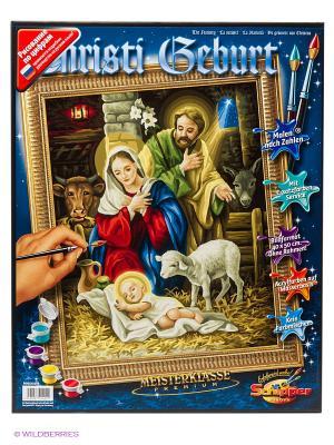 Набор для раскрашивания Рождение Христа Schipper. Цвет: темно-синий