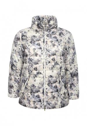 Куртка утепленная Ulla Popken. Цвет: разноцветный
