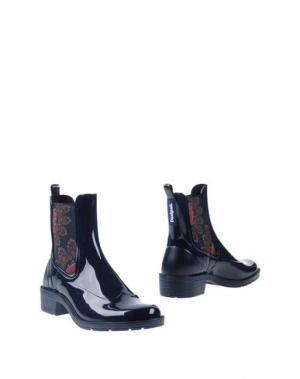 Полусапоги и высокие ботинки DESIGUAL. Цвет: темно-синий