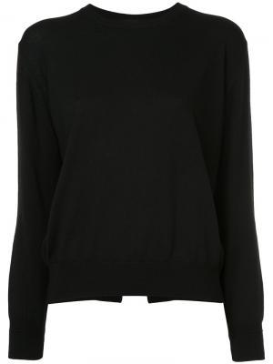 Пуловер с круглым вырезом Astraet. Цвет: чёрный