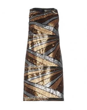 Короткое платье GAI MATTIOLO. Цвет: платиновый