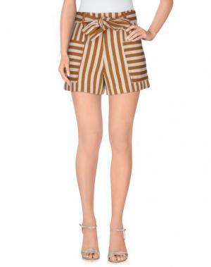 Повседневные шорты NINEMINUTES. Цвет: коричневый