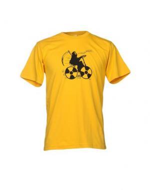 Футболка UNDEFEATED. Цвет: желтый