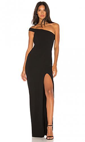 Вечернее платье mila Nookie. Цвет: черный