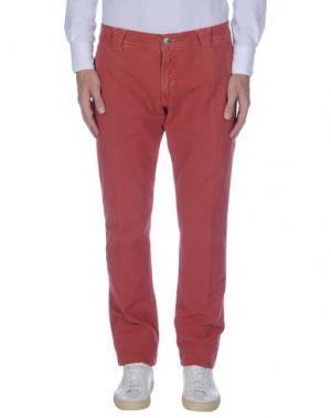 Повседневные брюки 9.2 BY CARLO CHIONNA. Цвет: кирпично-красный