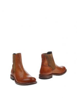 Полусапоги и высокие ботинки MOMA. Цвет: желто-коричневый