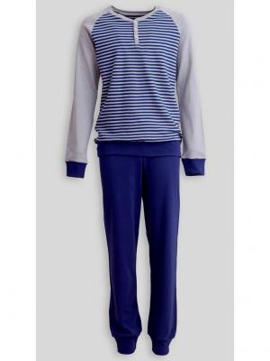 Пижама Jasmil. Цвет: темно-синий, серый
