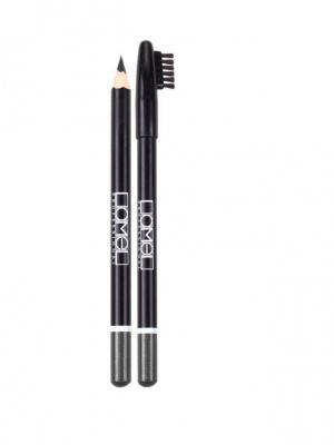 Набор карандашей для бровей, 3 шт.(чёрный, графитовый, светло-коричневый) Lamel. Цвет: черный, светло-коричневый, темно-серый