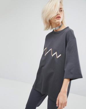 KKXX Трикотажная футболка Luxury. Цвет: серый