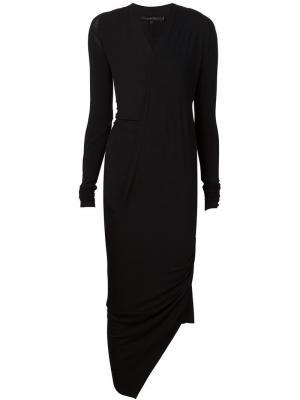 Драпированное платье с V-образным вырезом Urban Zen. Цвет: чёрный
