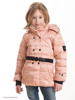 Куртка Cherche. Цвет: персиковый