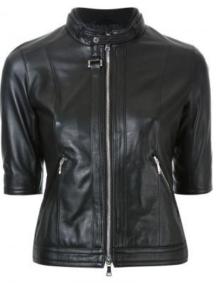Куртка с короткими рукавами Loveless. Цвет: чёрный