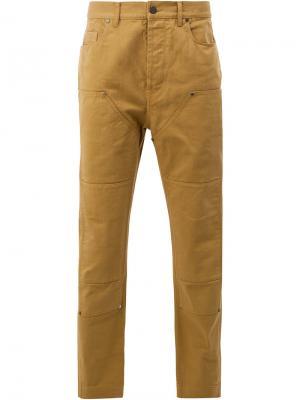 Панельные джинсовые брюки Lanvin. Цвет: жёлтый и оранжевый