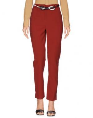 Повседневные брюки SOUVENIR. Цвет: кирпично-красный