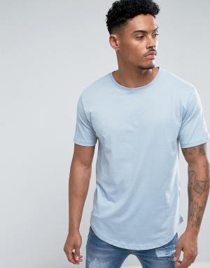 Troy Длинная футболка. Цвет: синий