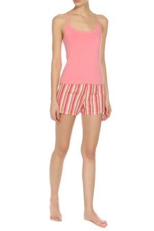 Пижама ALLA BUONE. Цвет: розовый, белый, коралловый
