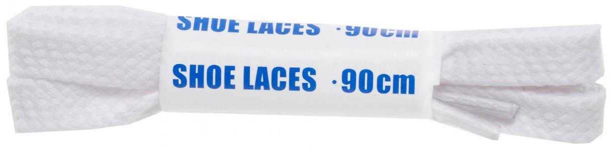 Шнурки белые плоские  Sport Woly