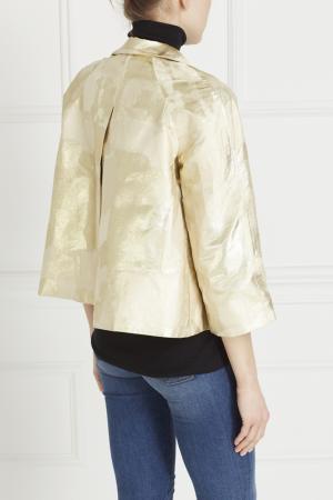 Шелковый жакет Luisa Beccaria. Цвет: золотой