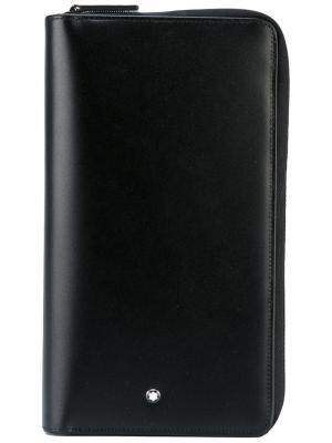 Дорожный кошелек MST Montblanc. Цвет: чёрный