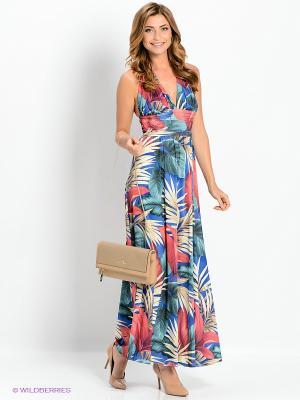 Платье Goddess London. Цвет: синий, красный, кремовый