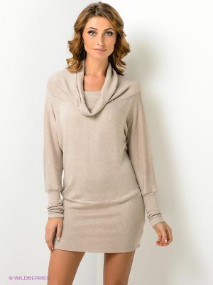 Платье Xarizmas. Цвет: светло-бежевый
