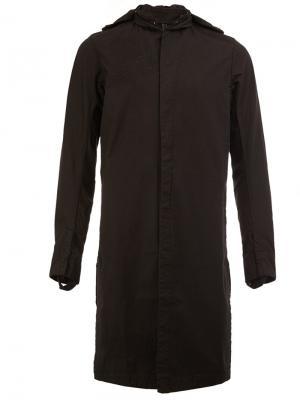 Пальто с капюшоном 11 By Boris Bidjan Saberi. Цвет: чёрный