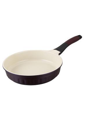 Сковорода Regent inox. Цвет: бордовый, бежевый, черный