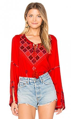 Блузка cozumel Central Park West. Цвет: красный